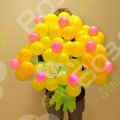 Букет полевых цветов из шаров