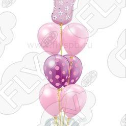 Фонтан из шаров пяточка девочка