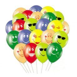 Гелиевые шарики со смайликами