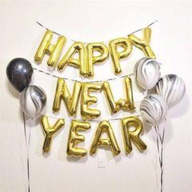 Вариант оформления нового года шарами