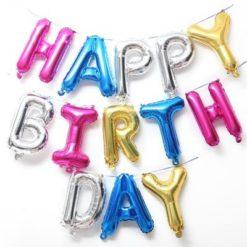 Шары буквы С днем рождения